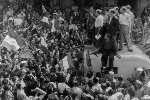 A Ajaccio le 9 septembre 1943, Maurice Choury lance l'appel à l'insurrection