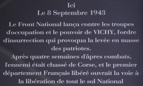 Plaque commémorative de l'appel à l'insurrection