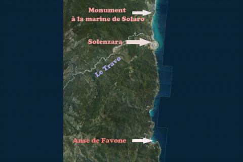 Carte des environs de Solaro