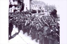 Les troupes italiennes à Bastia quartier Saint Joseph