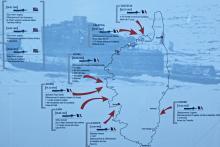 Carte des actions du sous-marin Casabianca