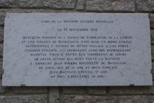 Plaque commémorative des combats de  Conca